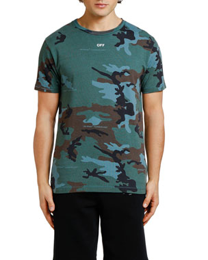 633f529a19580 Off-White Men s Diagonal-Arrow Camo Slim T-Shirt