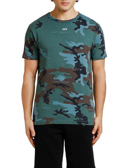 Off-White Men's Diagonal-Arrow Camo Slim T-Shirt