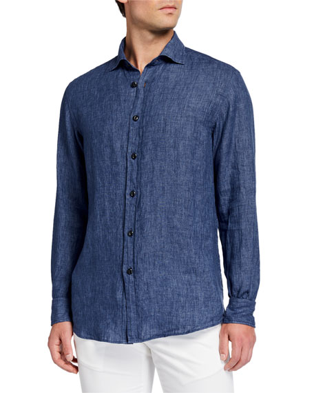 Ralph Lauren Men's Chambray Linen Sport Shirt