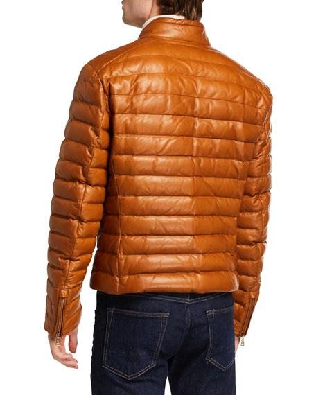 Ralph Lauren Men's Lux Leather Puffer Jacket