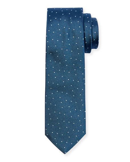 BOSS Men's Pindot Silk Tie, Teal