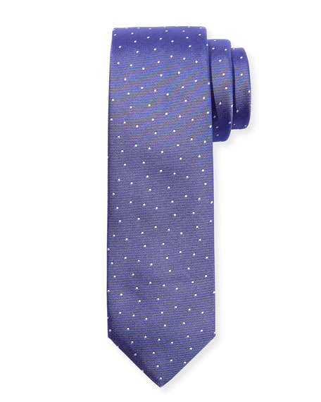 BOSS Men's Pindot Silk Tie, Lavender