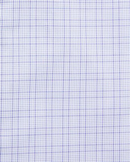 BOSS Men's Cotton Grid-Pattern Dress Shirt