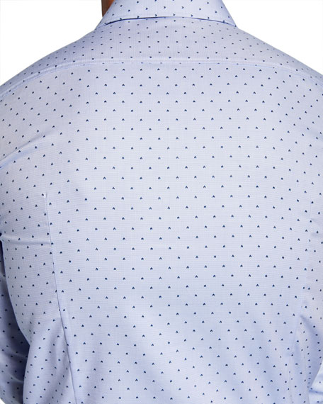BOSS Men's Slim-Fit Travel  Diamond Sport Shirt