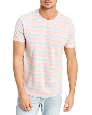 1ce8c928a8f Sol Angeles Men s Twill Stripe Crewneck T-Shirt