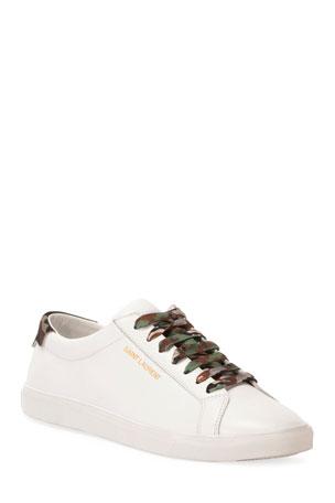 Saint Laurent Men's Andy Low-Top Sneaker
