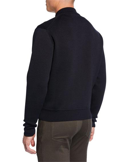 Berluti Men's Solid Knit Bomber Jacket