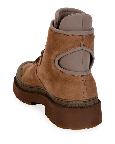 Salvatore Ferragamo Men's Tolk 2 Leather/Fabric Hiking Boots