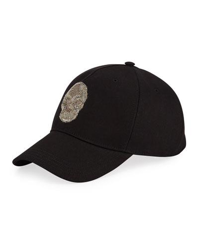 Men's Bullion Skull Baseball Hat