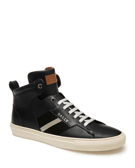 Bally Men's Helvio Trainspotting Leather High-Top Sneakers