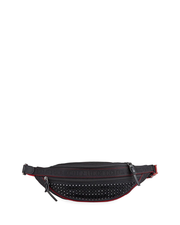 b07169e8e Men's Paris NYC Spiked Belt Bag with Leather Trim