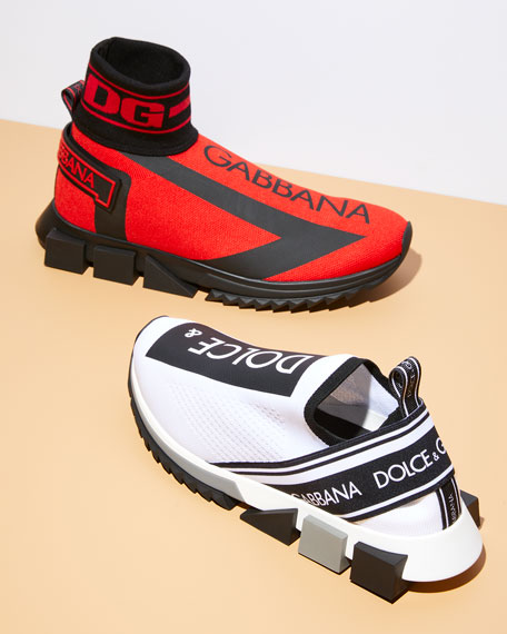 Dolce & Gabbana Men's Sorrento High-Top Sock Sneakers