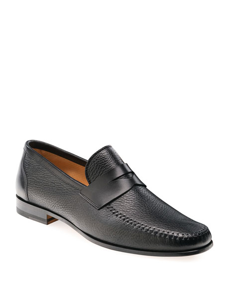 Magnanni Loafers MEN'S RAMOS LEATHER PENNY LOAFERS