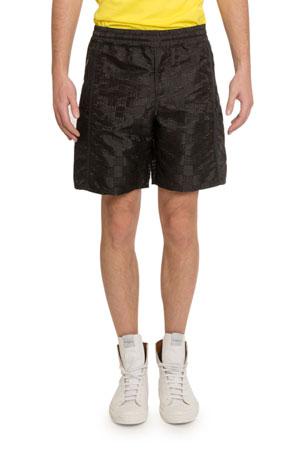 Givenchy Men's 4G Jacquard Shorts