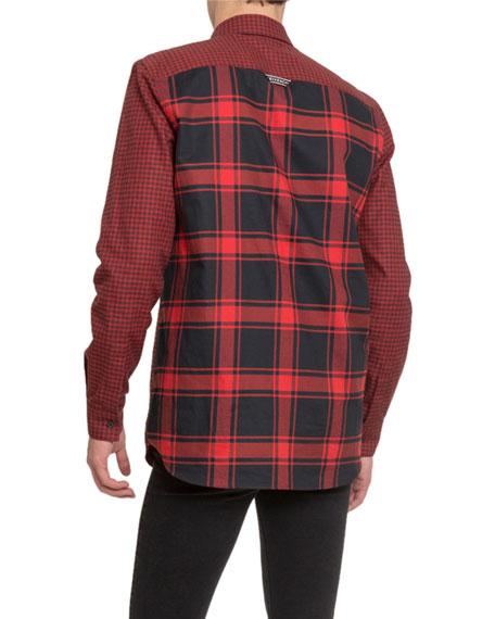Givenchy Men's Check Military Sport Shirt