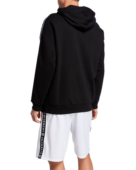 Givenchy Men's Logo Tape Pullover Hoodie