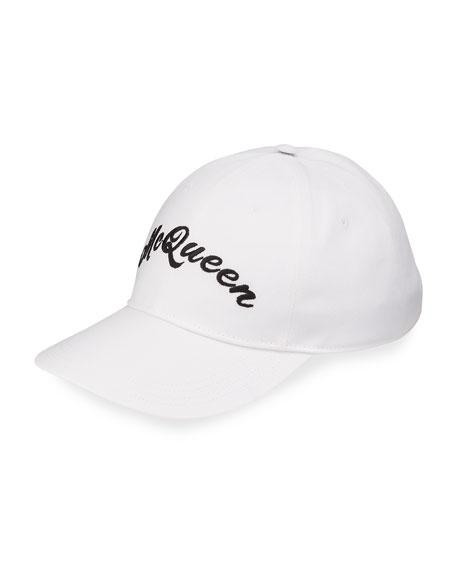 Alexander McQueen Men's Embroidered Logo Baseball Hat