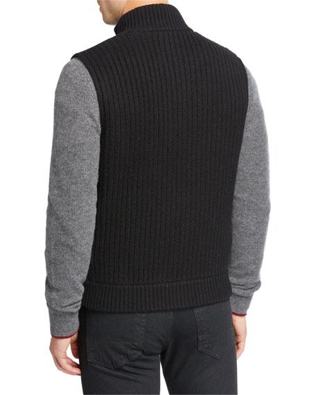 Neiman Marcus Men's Wool/Cashmere Zip-Front Vest
