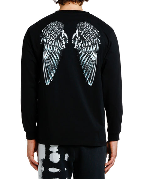 Marcelo Burlon Men's Heart Wings Graphic Long-Sleeve T-Shirt