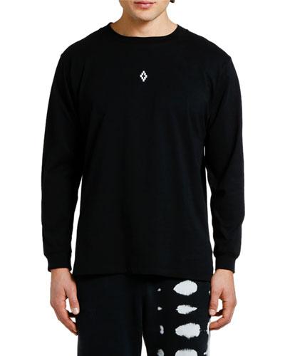 Men's Heart Wings Graphic Long-Sleeve T-Shirt