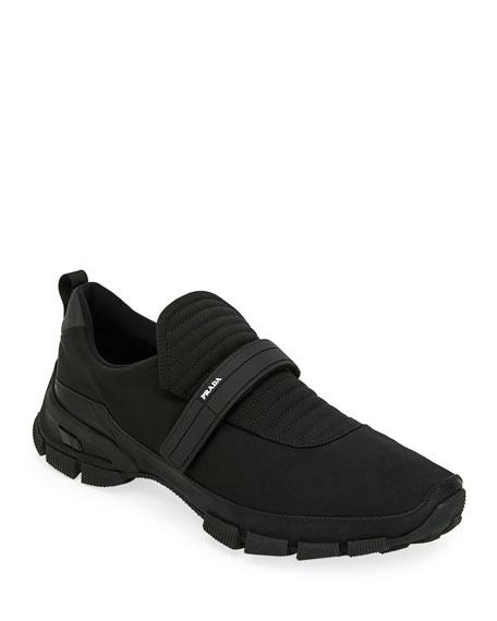 Prada Men's Grip-Strap Runner Sneakers