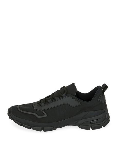 Prada Men's Gabardine Soft Runner Sneakers