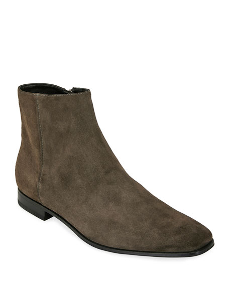 Prada Men's Suede Side-Zip Ankle Boot