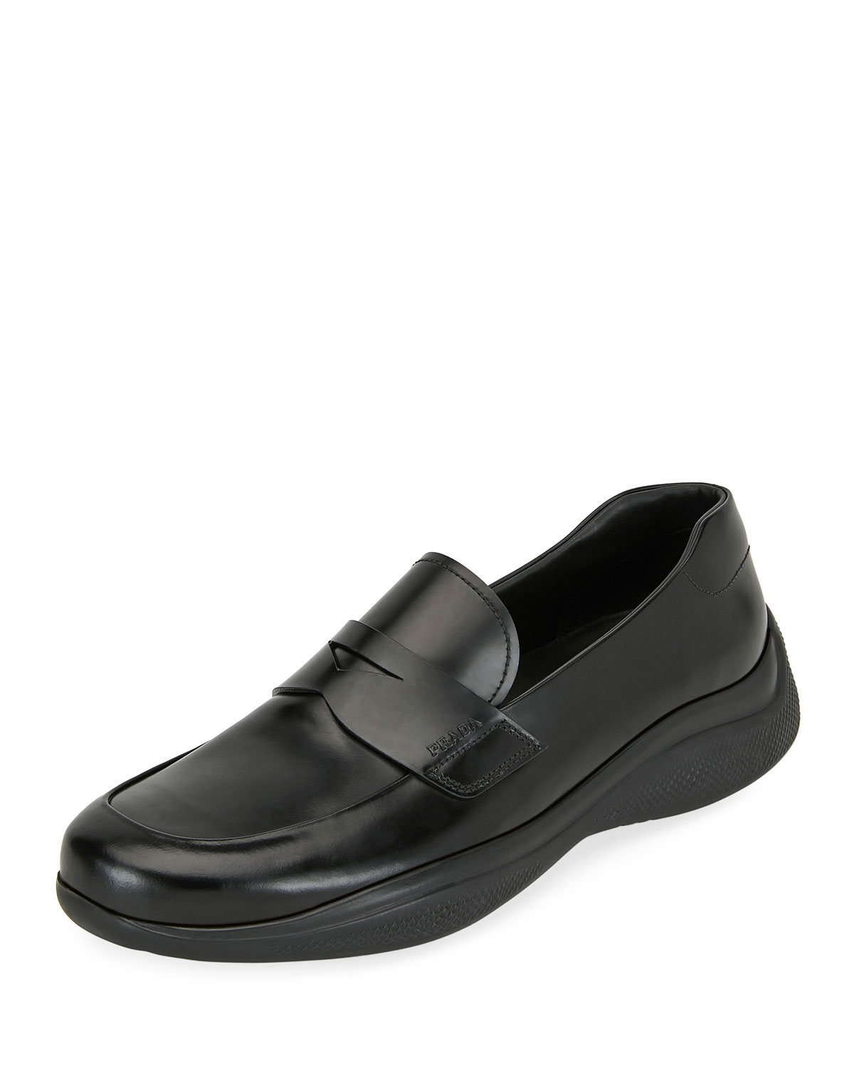 Spazzolato Leather Penny Loafers