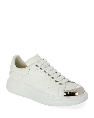 Men's Larry Metallic-Toe Platform Sneakers