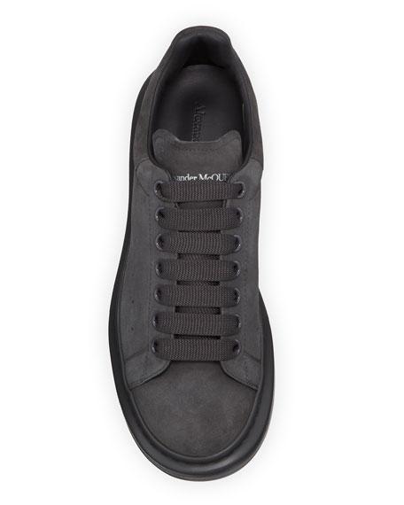 Alexander McQueen Men's Larry Tonal Suede Trainer Sneakers