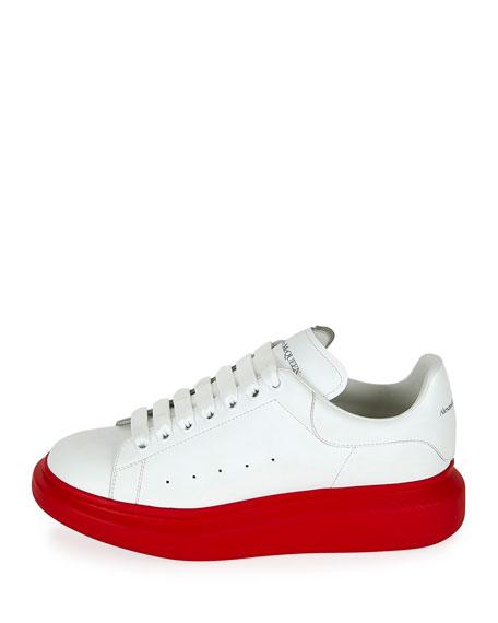 Alexander McQueen Men's Larry Contrast Sole Platform Sneakers
