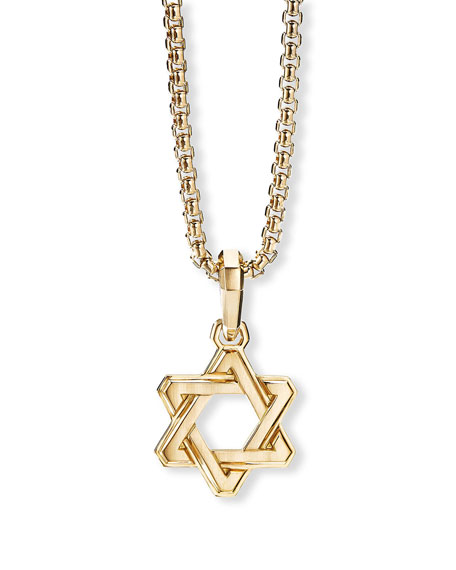 David Yurman Men's 18K Deco Star of David Enhancer