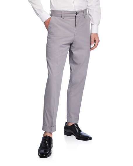 BOSS Men's Cotton Slim-Fit Trousers