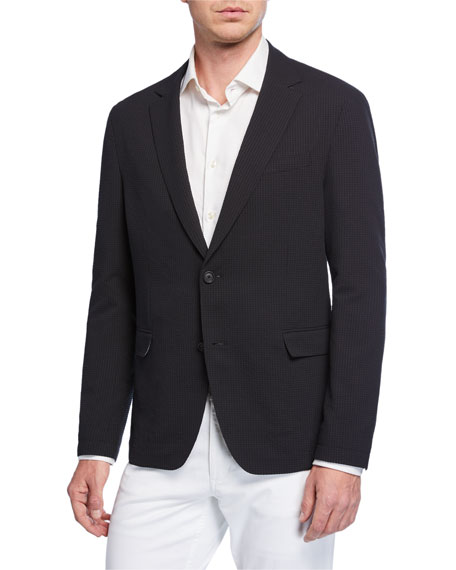 Image 1 of 3: BOSS Men's Packable Seersucker Sport Coat