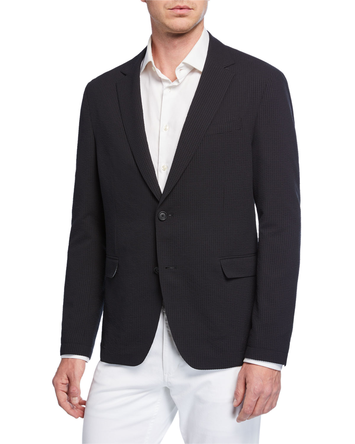 BOSS Men's Packable Seersucker Sport Coat