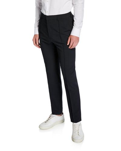 Men's Cropped Seersucker Dress Pants