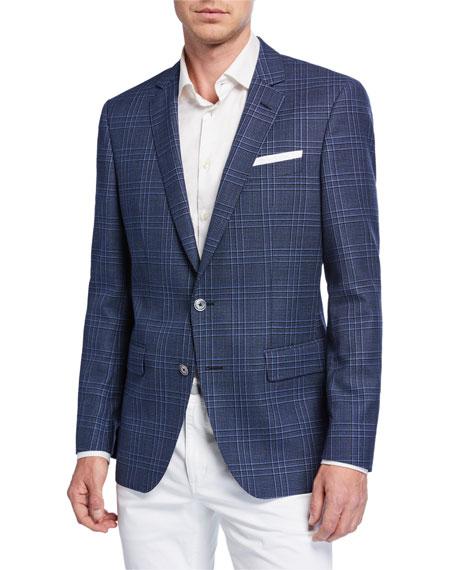 BOSS Men's Slim Fit Plaid Wool Sport Coat