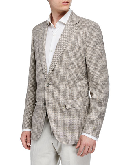BOSS Men's Cotton-Blend Sport Coat w/ Elbow Patches, Tan