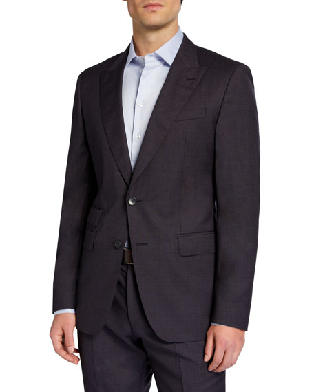 BOSS Men's Slim-Fit Micro-Detailed Two-Piece Suit