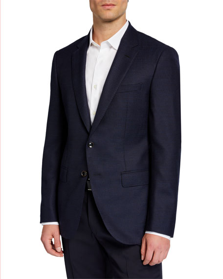 BOSS Men's Slim Micro-Dot Tailored Wool Jacket