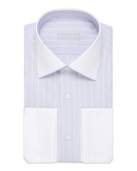 Stefano Ricci Men's Asti Striped French-Cuff Dress Shirt