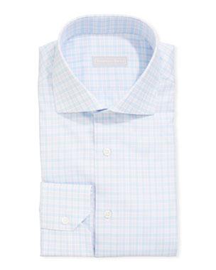 6059c2eb Stefano Ricci Men's Napoli Check Dress Shirt
