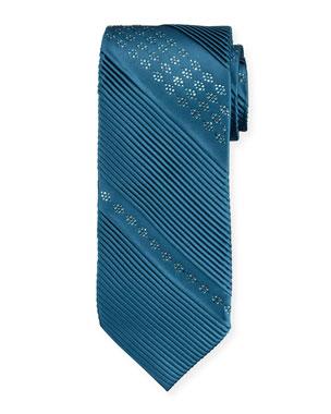 f16b5f64e8c6 Stefano Ricci Crystal Diagonal Pleated Silk Tie
