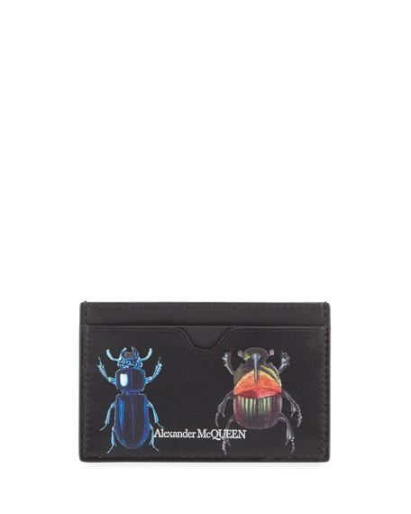 Alexander McQueen Men's Beetle Print Card Case