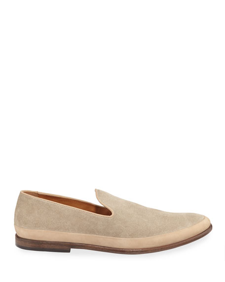 John Varvatos Men's Amalfi Slip-On Suede Loafers