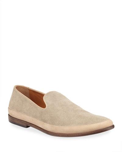 Men's Amalfi Slip-On Suede Loafers