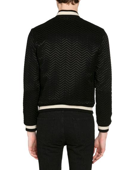 0450dc162 Men's Embroidered Chevron Bomber Jacket