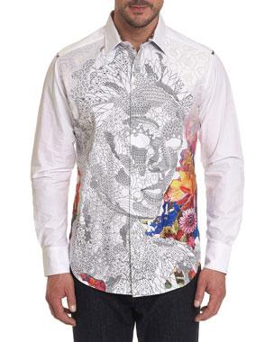 25dc6610e Men's Casual Button-Down Shirts at Neiman Marcus