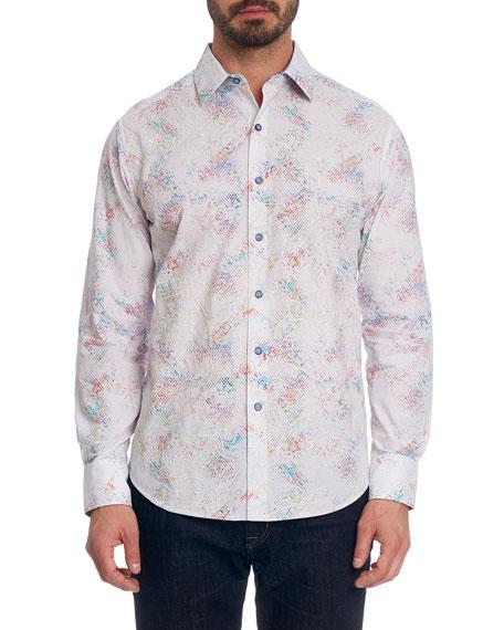 Robert Graham Men's Beall Printed Cotton Sport Shirt