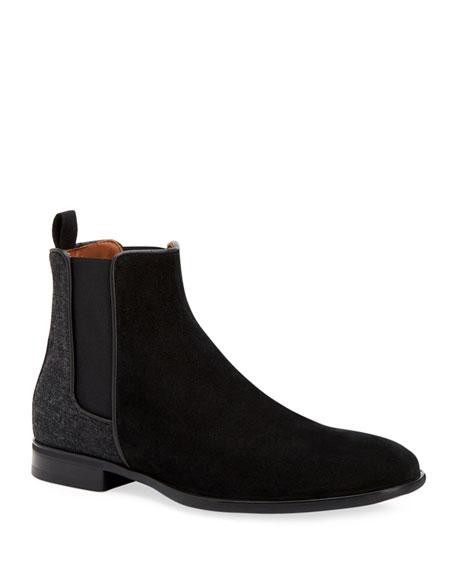 Aquatalia Boots MEN'S ADRIAN WEATHERPROOF SUEDE CHELSEA BOOT
